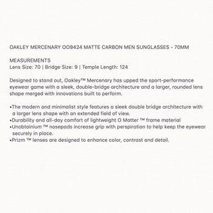 Oakley Accessories - OAKLEY MERCENARY MATTE CARBON MENS SUNGLASSES New!